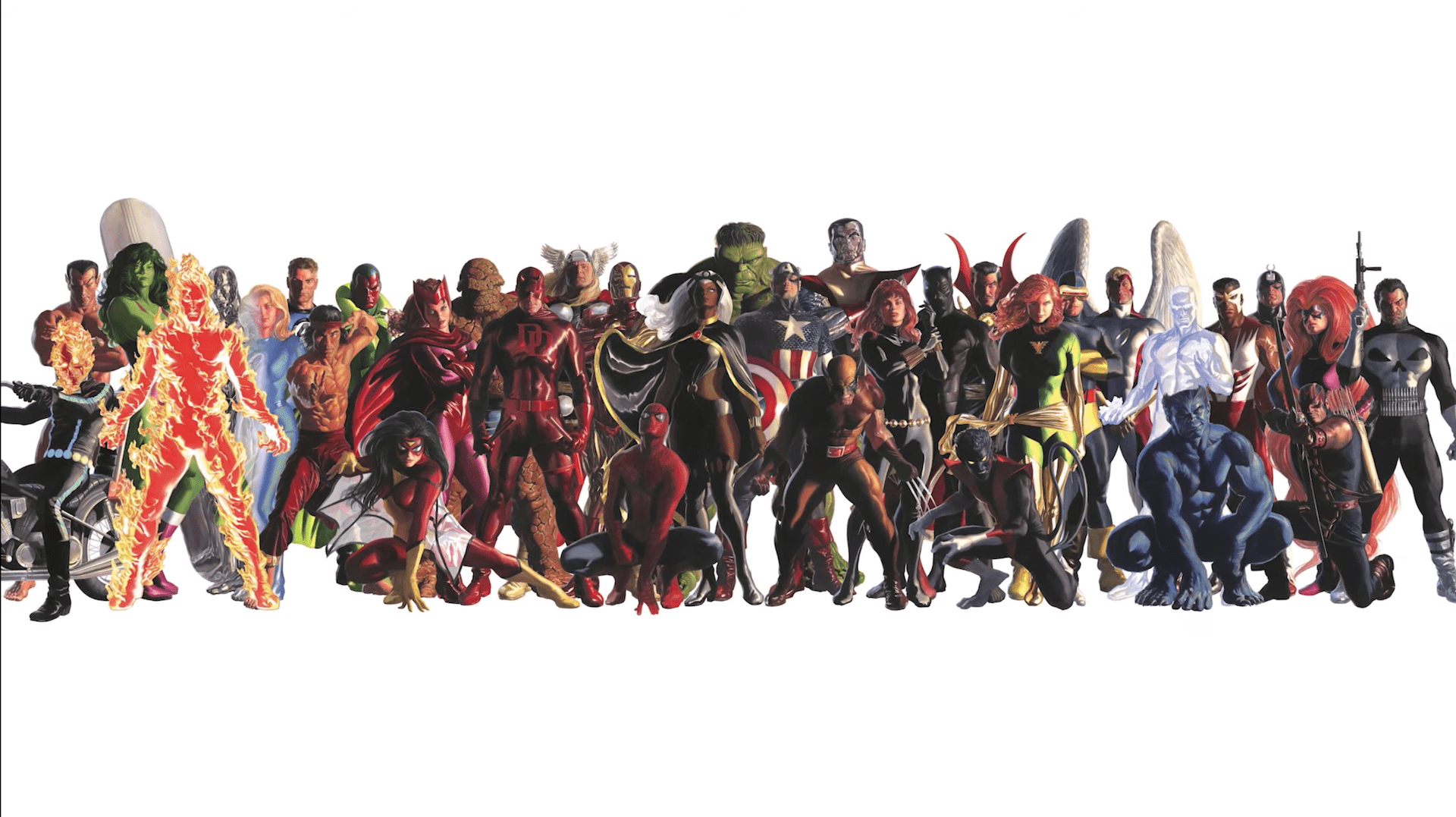 Alex Ross shares a behind the scenes look at October variant murals