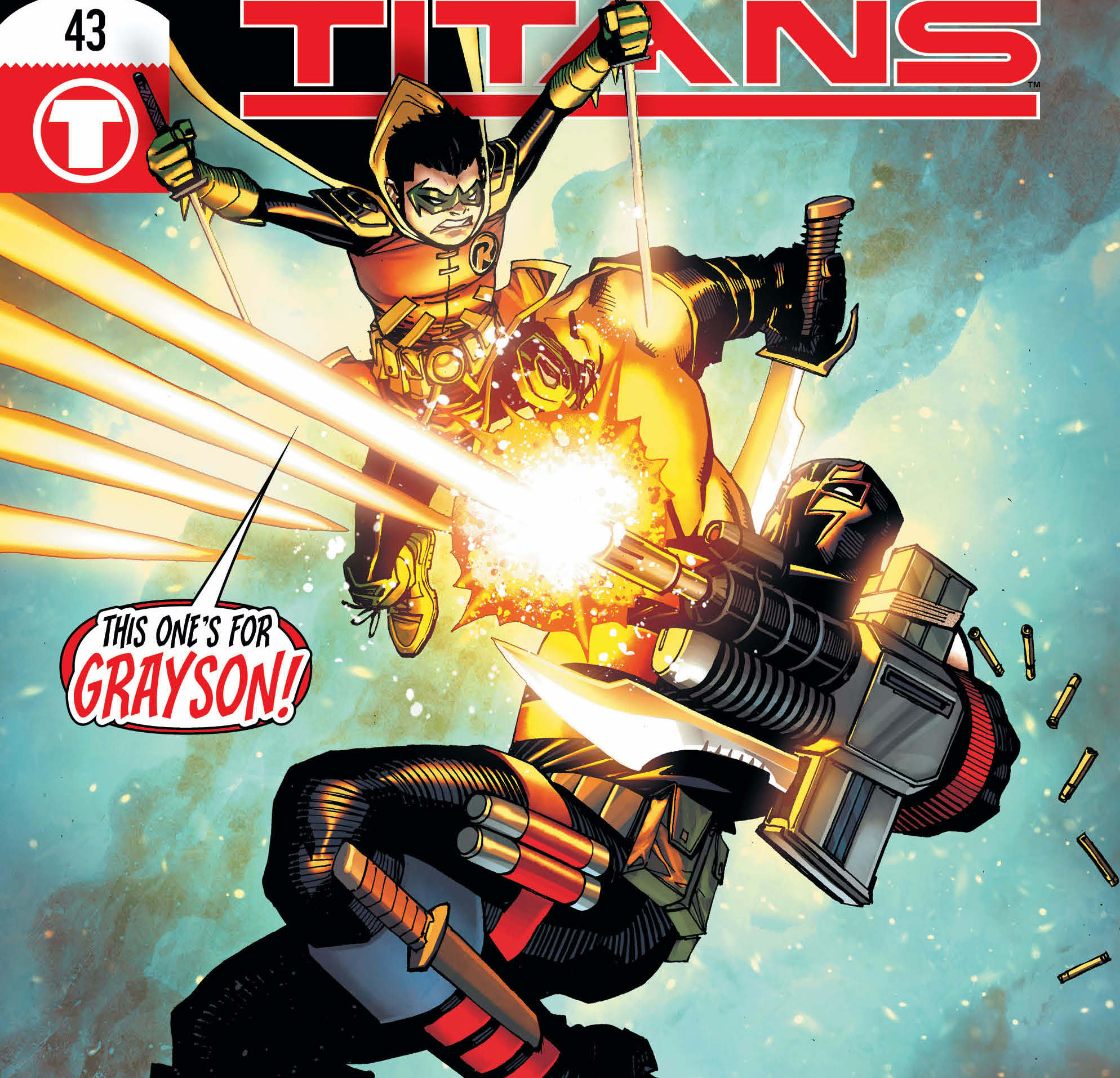 Robin begins a hunt that leads him to the KGBeast in Teen Titans #43.