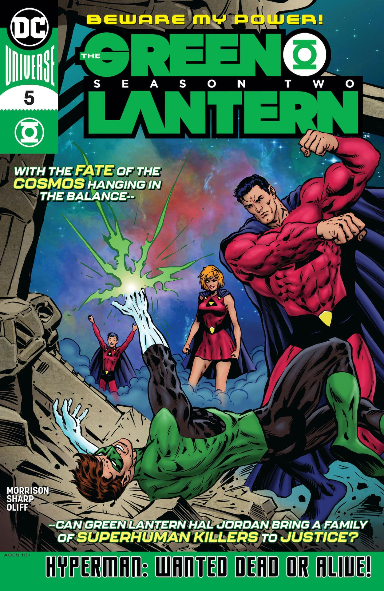 In the latest issue of this 12-part miniseries, Green Lantern Hal Jordan must test the limits of his ring's capabilities...