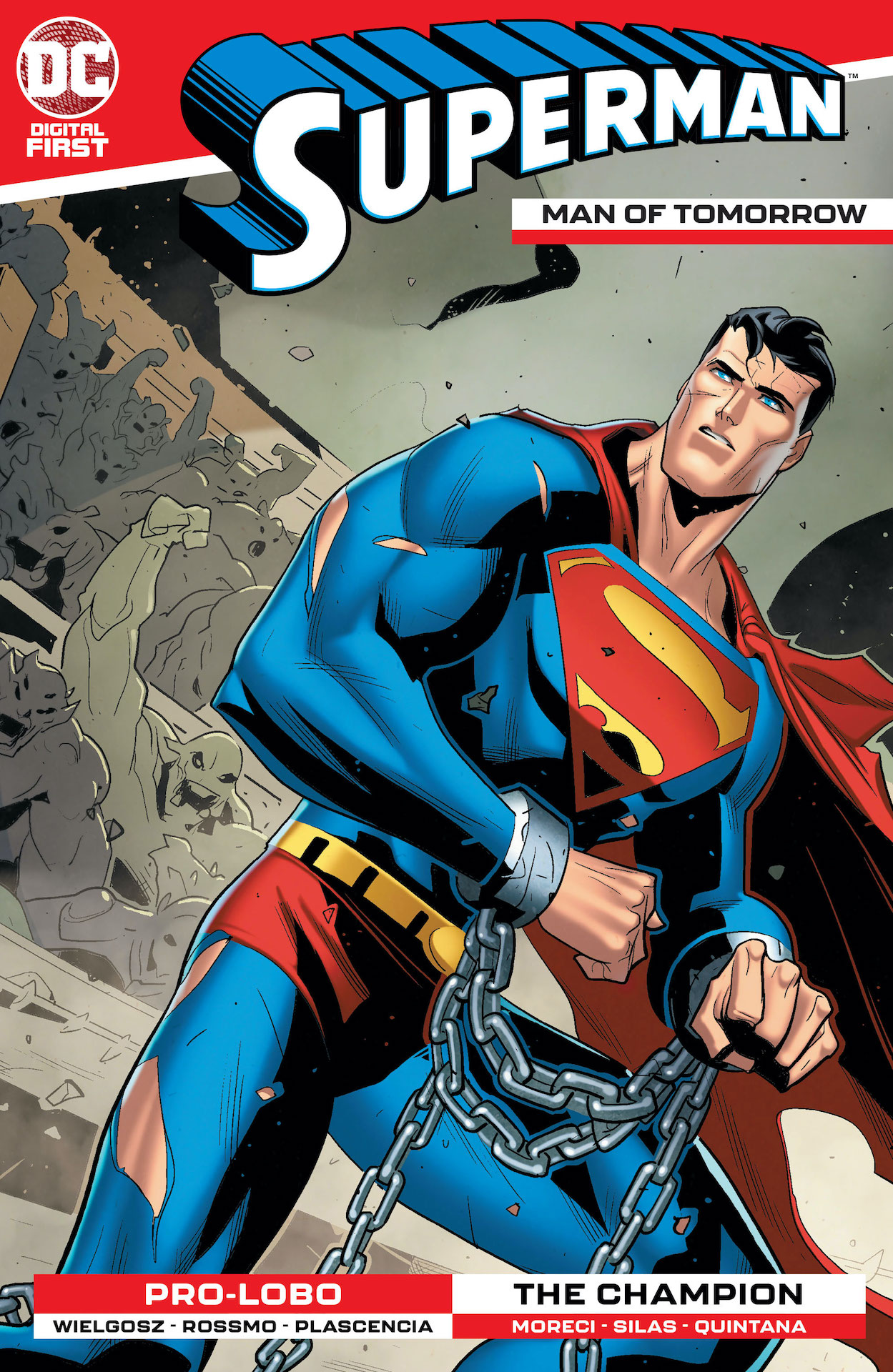 Superman wakes up in chains and doesn't know where he is.