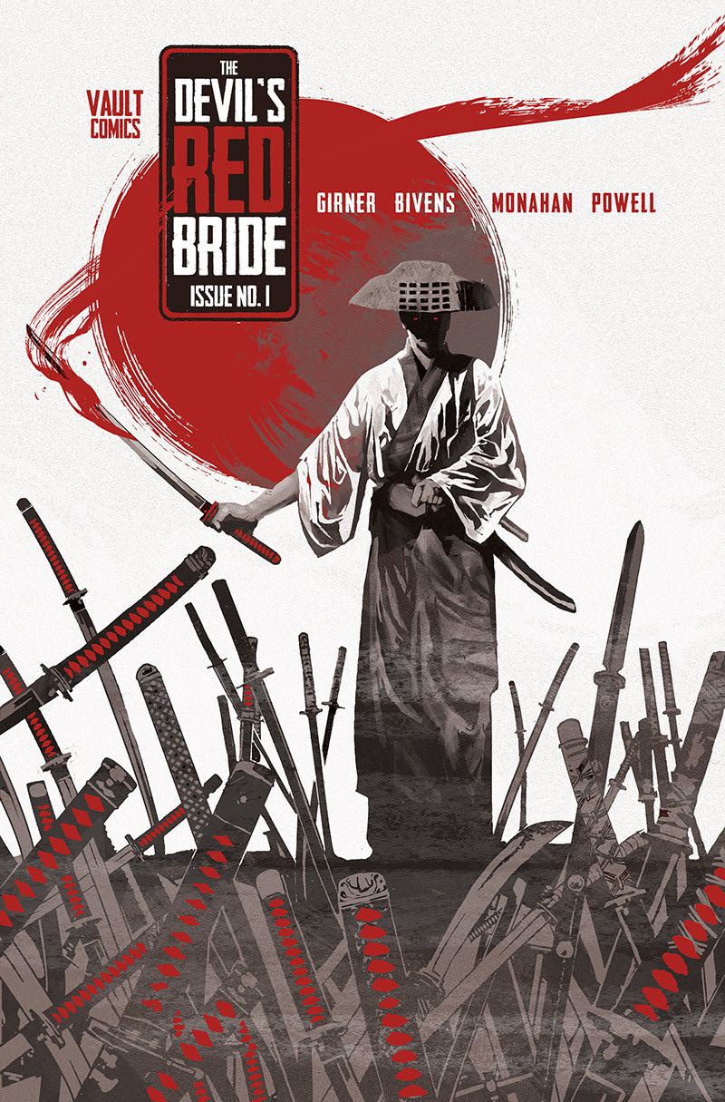 The Devil's Red Bride is a blood-drenched love letter to Samurai fiction in a chilling tale of guilt, trauma, and vengeance.