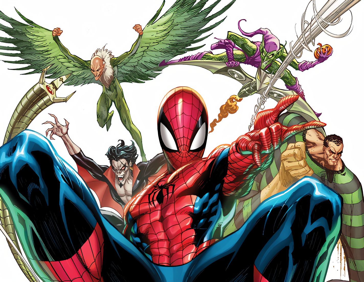 Spider-Man and his amazing friends (and foes) come out in J. Scott Campbell variant cover