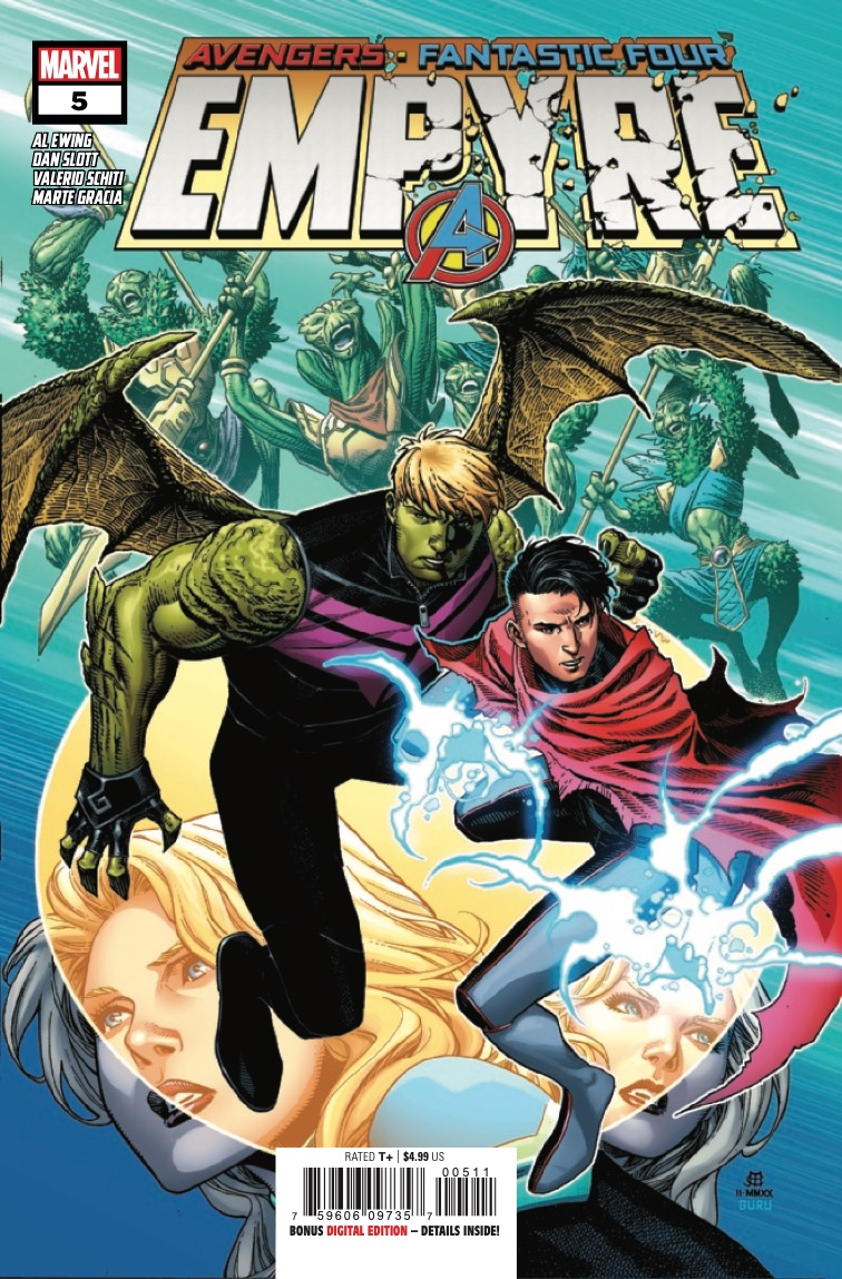 Love and war — in the midst of cosmic cataclysm in Empyre #5.