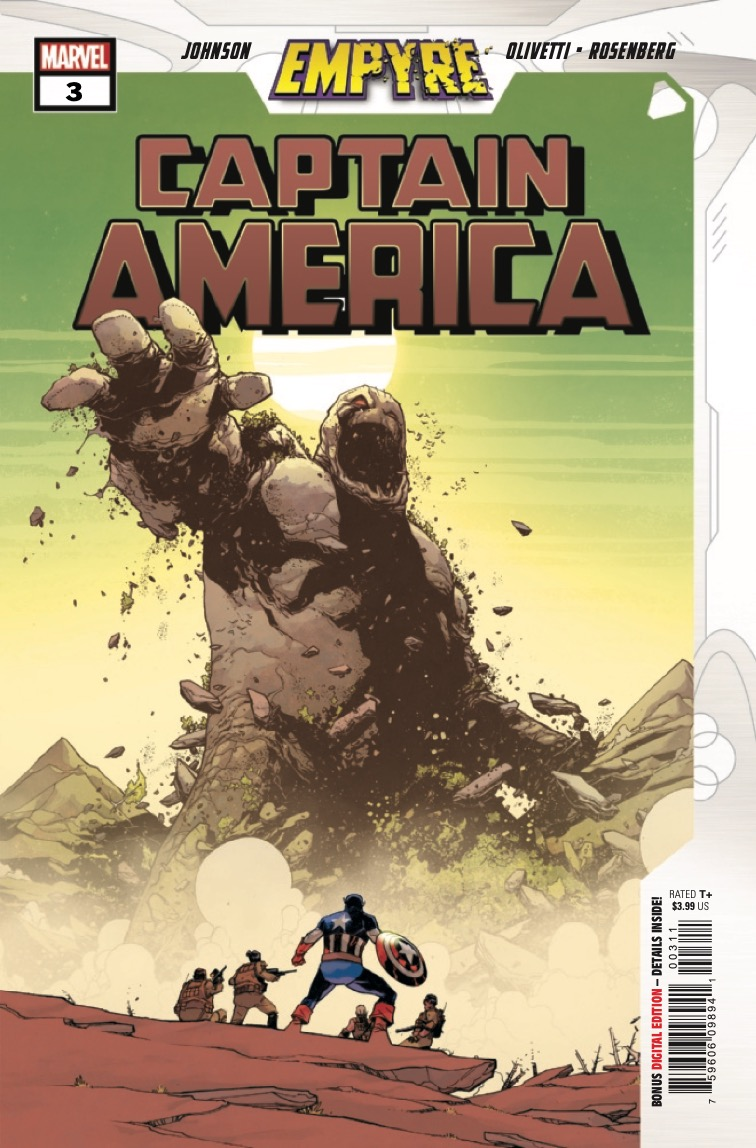 A mountain of trouble arises for Captain America and his ground forces – literally!