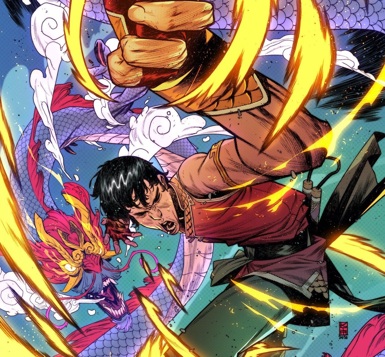 Check out this electrifying Shang-Chi variant cover.