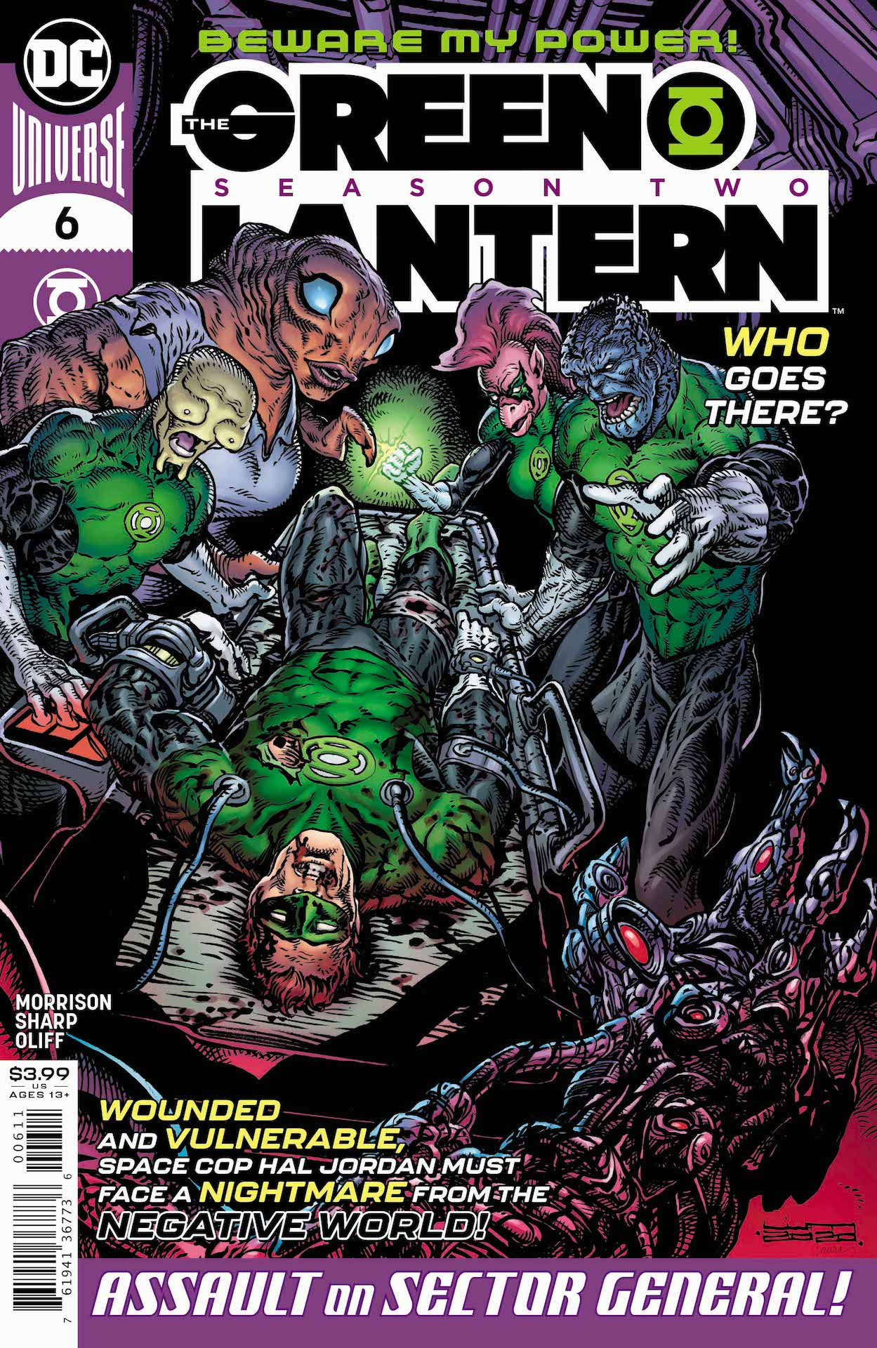 The Anti-Matter Lantern Corps has invaded our universe!