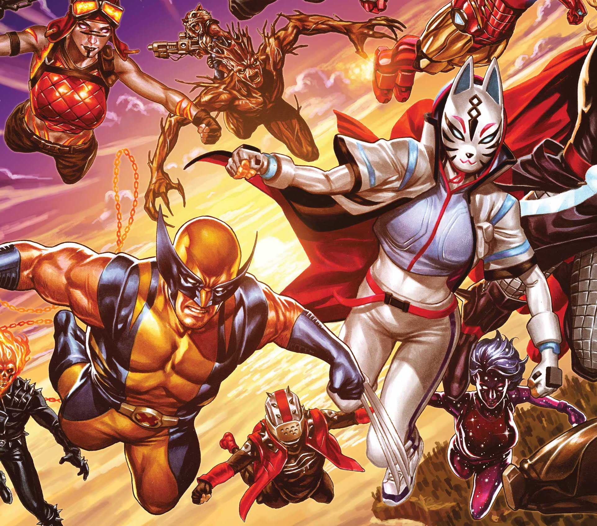 Mark Brooks dazzles with 'Avengers' #37 wraparound Fortnite cover