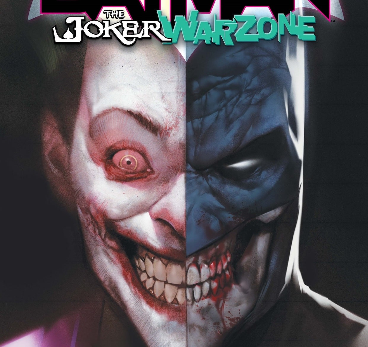 """Enter the """"Joker war zone"""" with short stories featuring many Batman characters."""