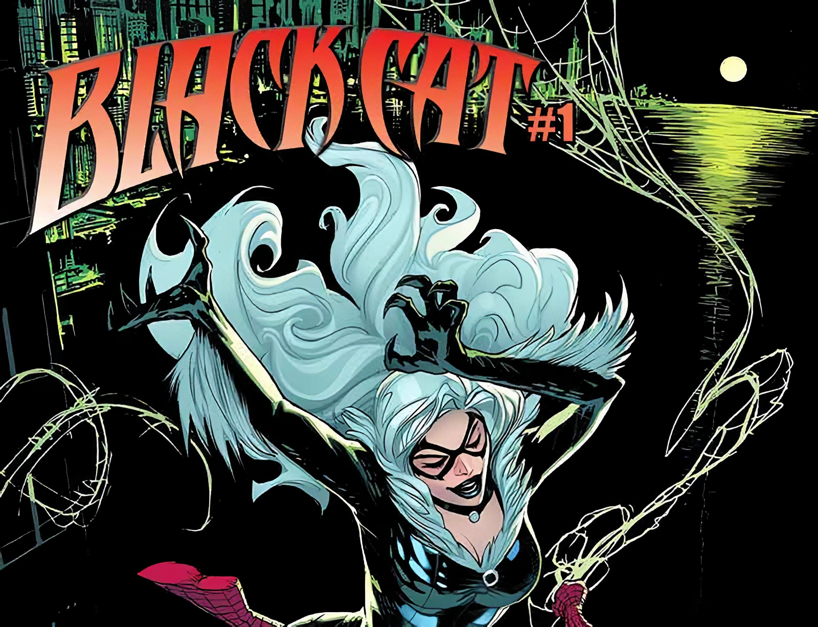 Black Cat and Spider-Man travel through the night in newly revealed Pat Gleason variant cover.