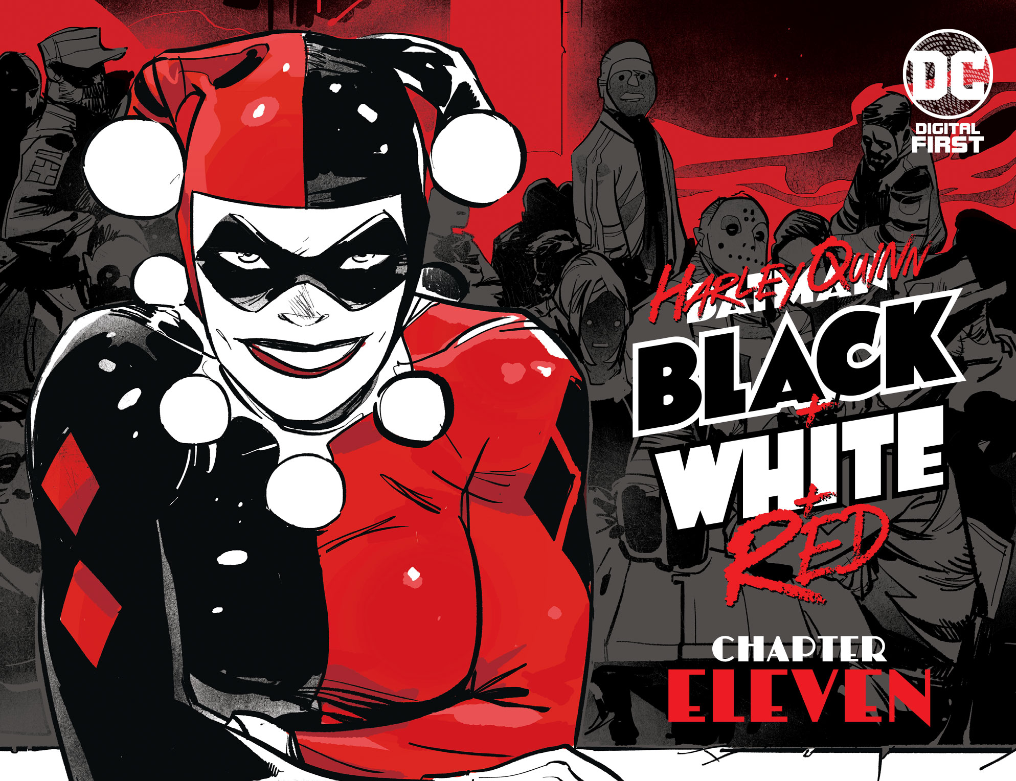DC Preview: Harley Quinn: Black + White + Red #11