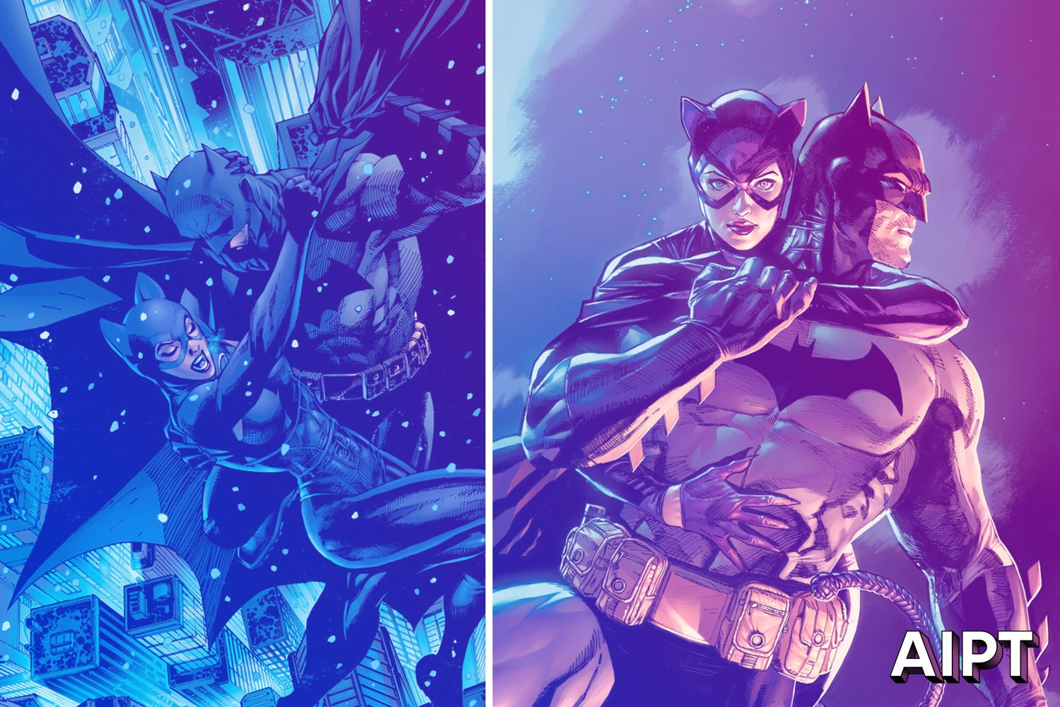 The much anticipated 12-issue Batman/Catwoman series is by Tom King, Clay Mann, Tomeu Morey, and Clayton Cowles.
