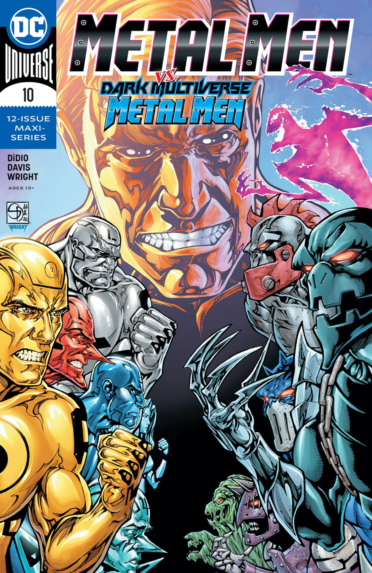 In this issue, it's the startling secret origin of the Nth Metal Man!