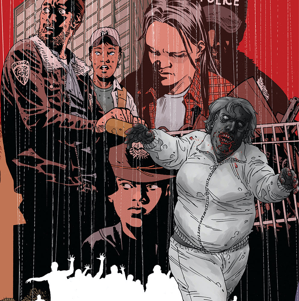 The Walking Dead covers will be released over the course of the first story arc ofThe Walking Dead Deluxefull-color editions.