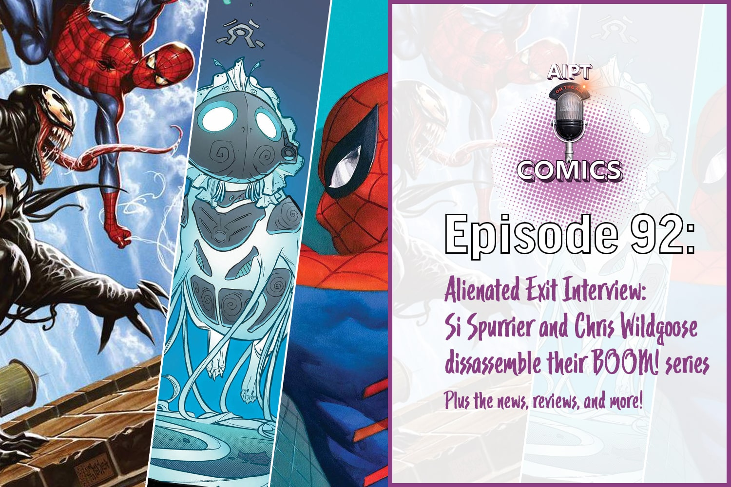 AIPT Comics Podcast Episode 92: Exit Interview: Si Spurrier and Chris Wildgoose break down sci-fi series Alienated