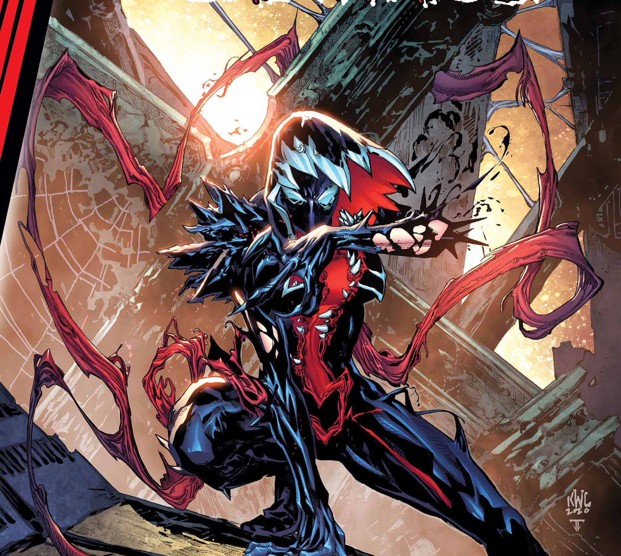 'King in Black' pits Gwenom vs. Carnage from Seanan McGuire and Flaviano