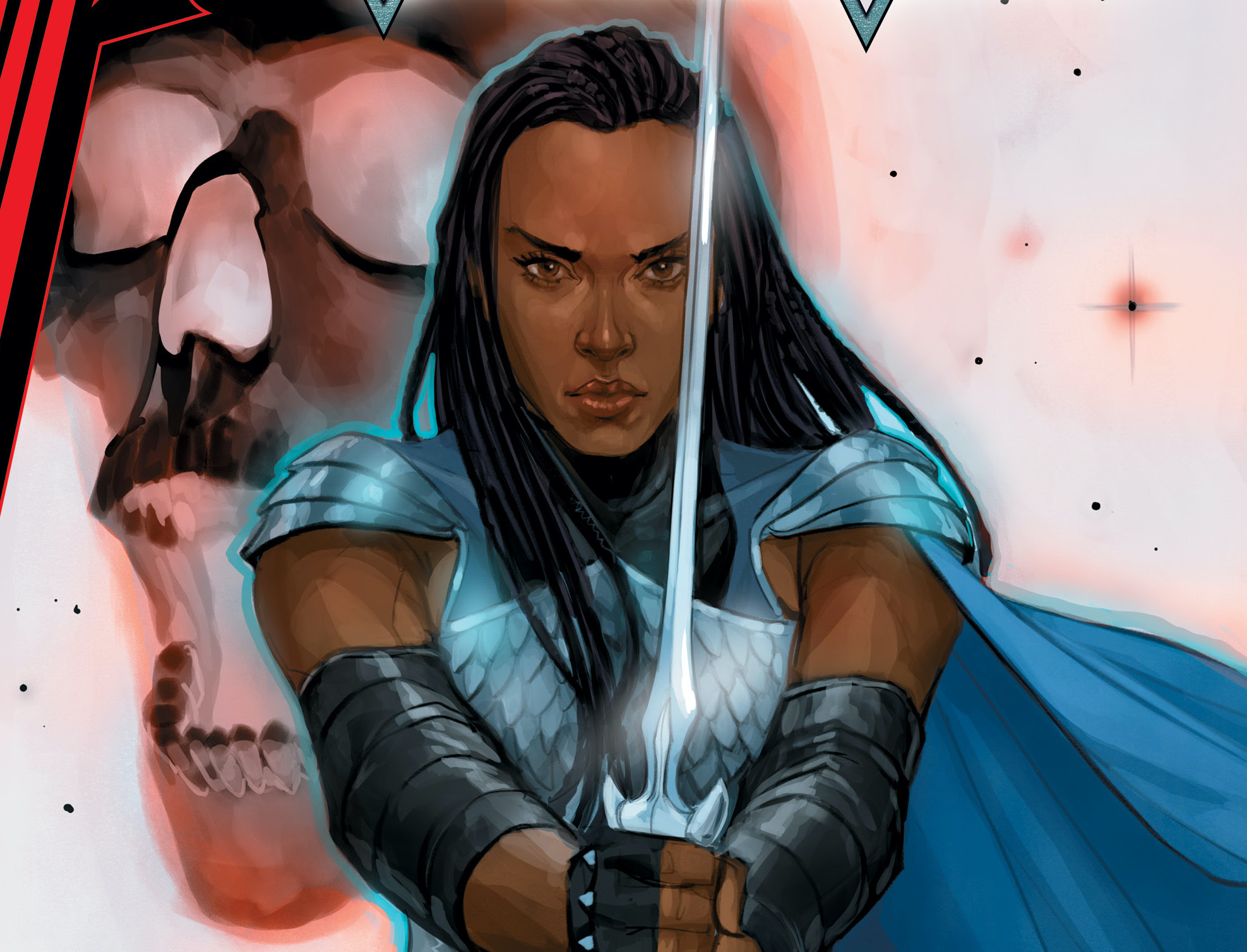 A brand-new Valkyrie debuts in 'King in Black: Return of the Valkyries' #1 variant cover