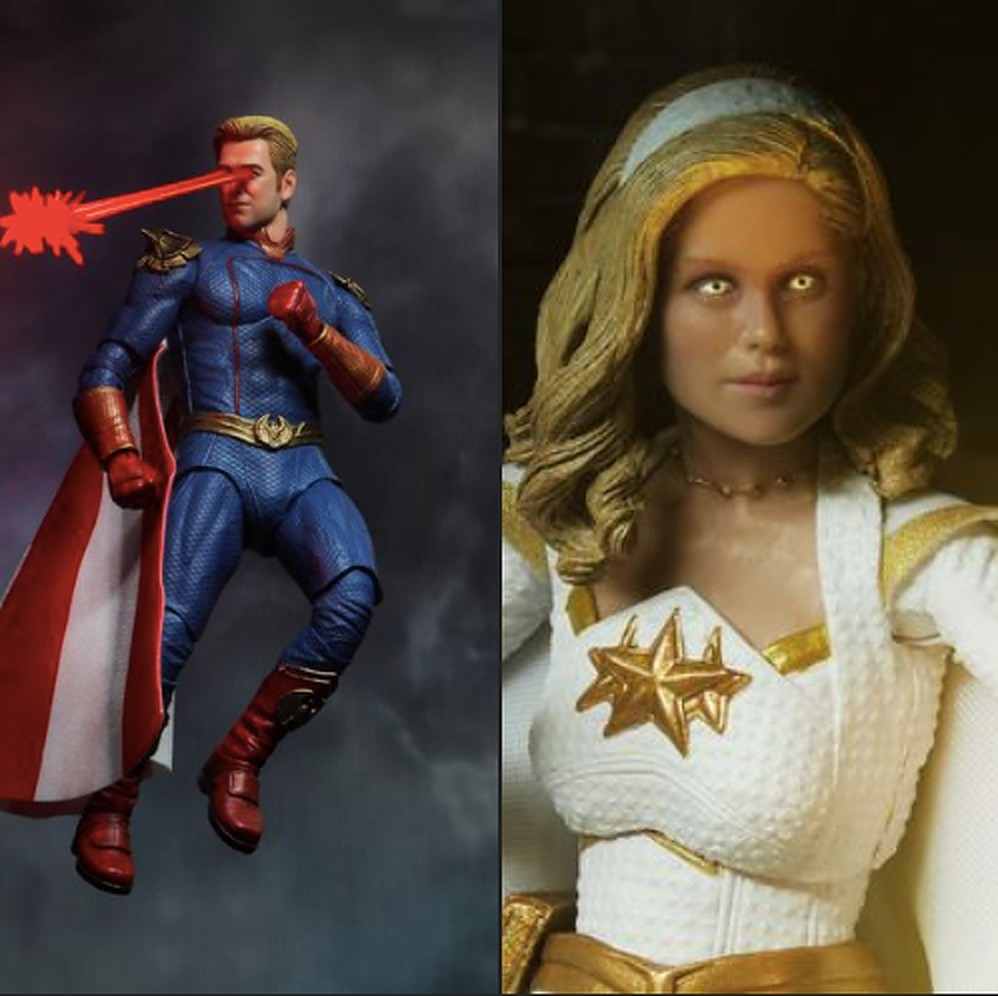 The Boys: NECA releases preview images of Starlight and Homelander figures