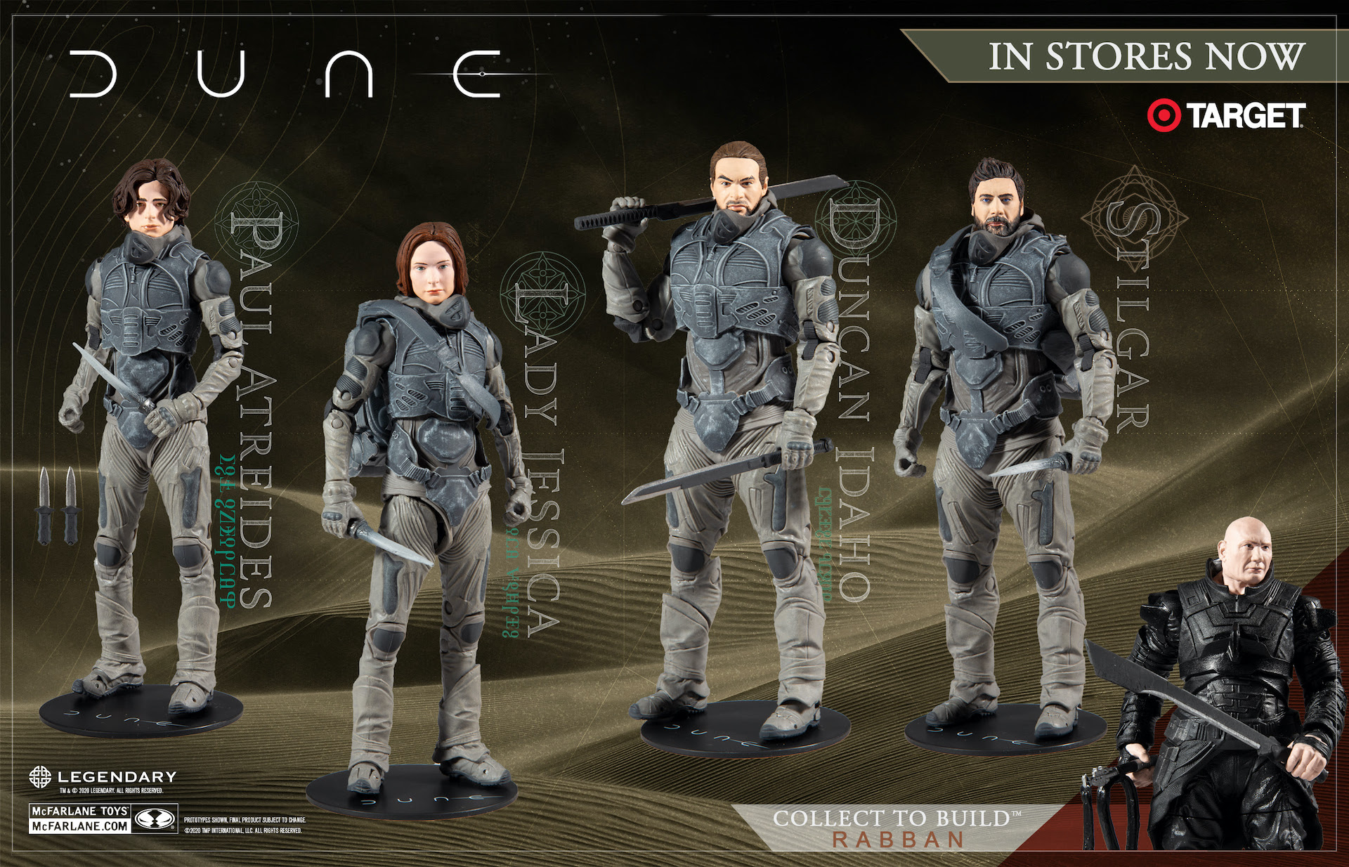 'Dune' the movie may be delayed but the McFarlane Toys are not