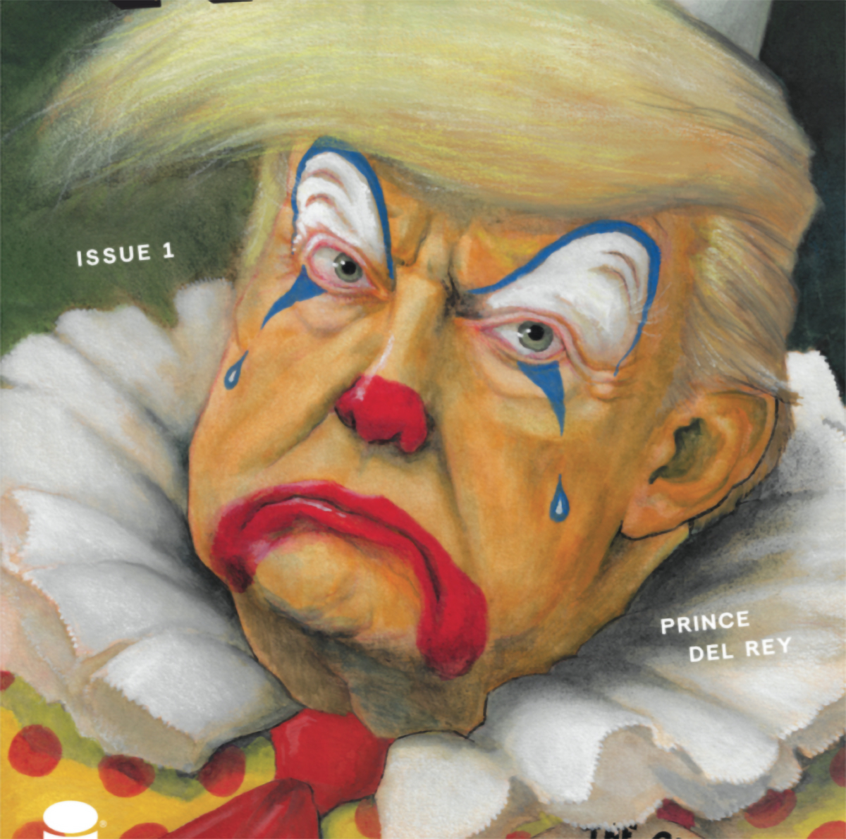'Haha' #1 variant cover depicts President Trump as a crying clown