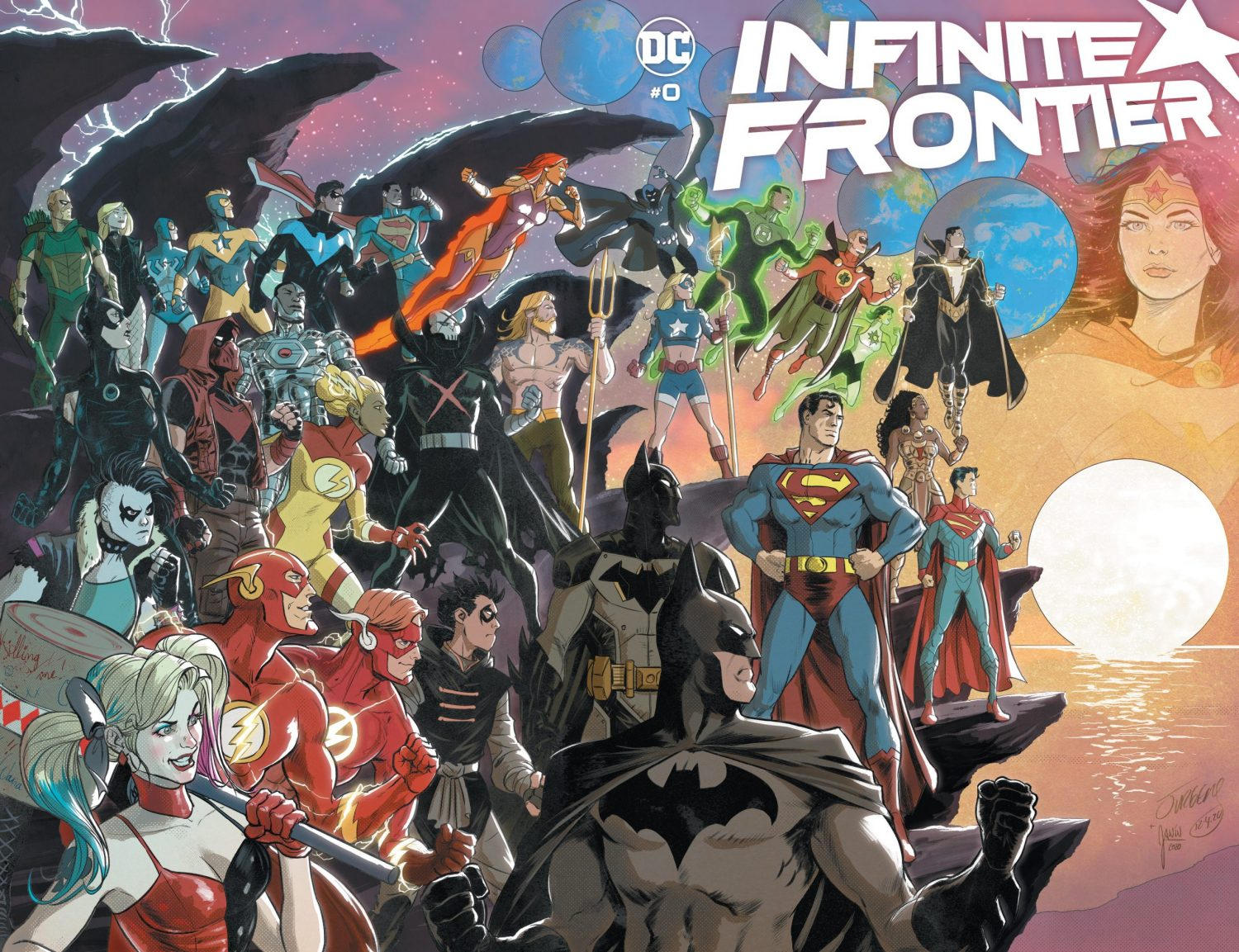 Infinite Frontier 0 cover by Dan Jurgens and Mikel Janin