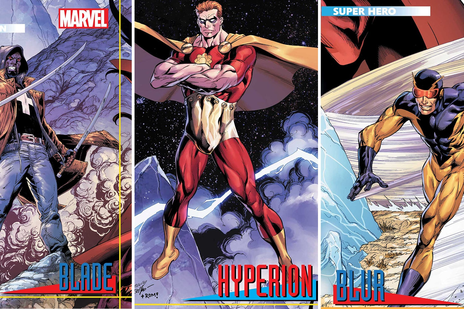 Marvel unveils Mark Bagley trading card covers for 'Heroes Reborn' for May 2021