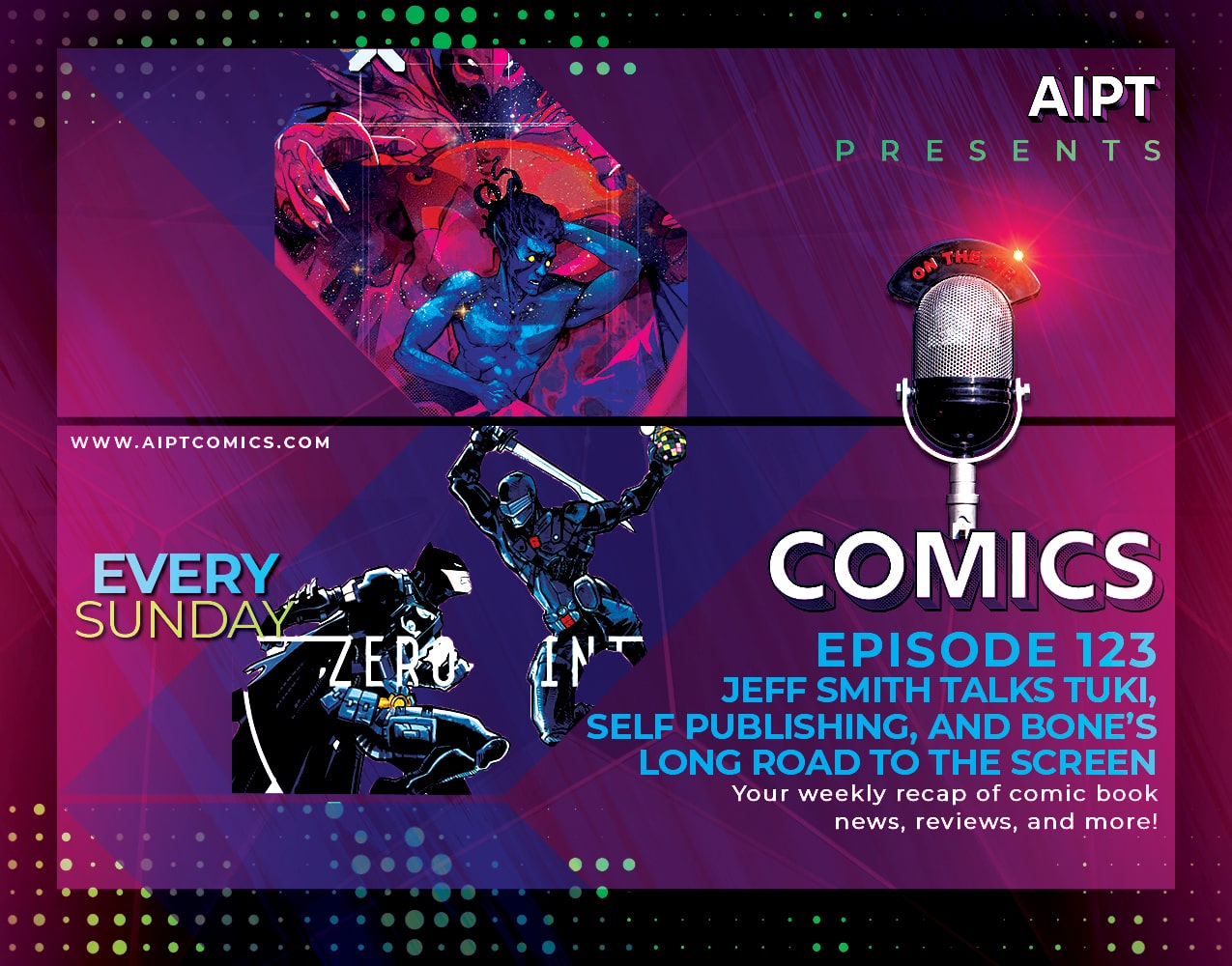 AIPT Comics Podcast Episode 123: Jeff Smith talks 'Tuki,' self publishing, and Bone's long road to the screen
