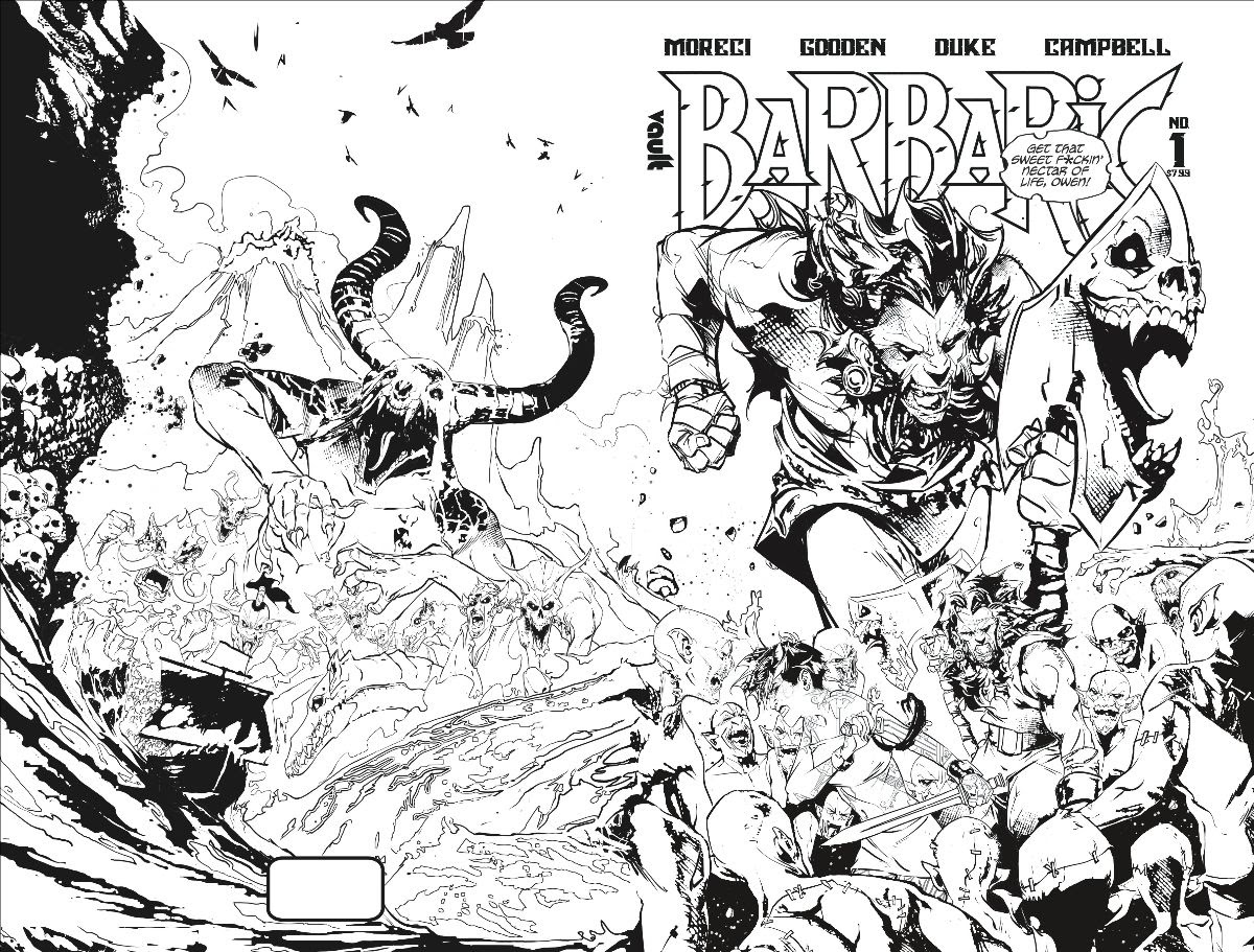 Vault to print 'Barbaric' in deluxe, black & white editions