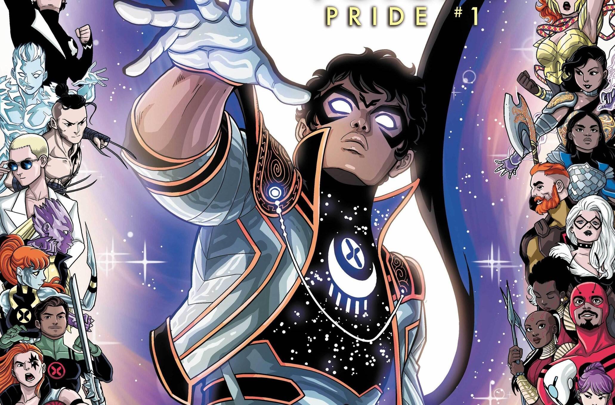 Somnus and a lineup of queer Marvel characters