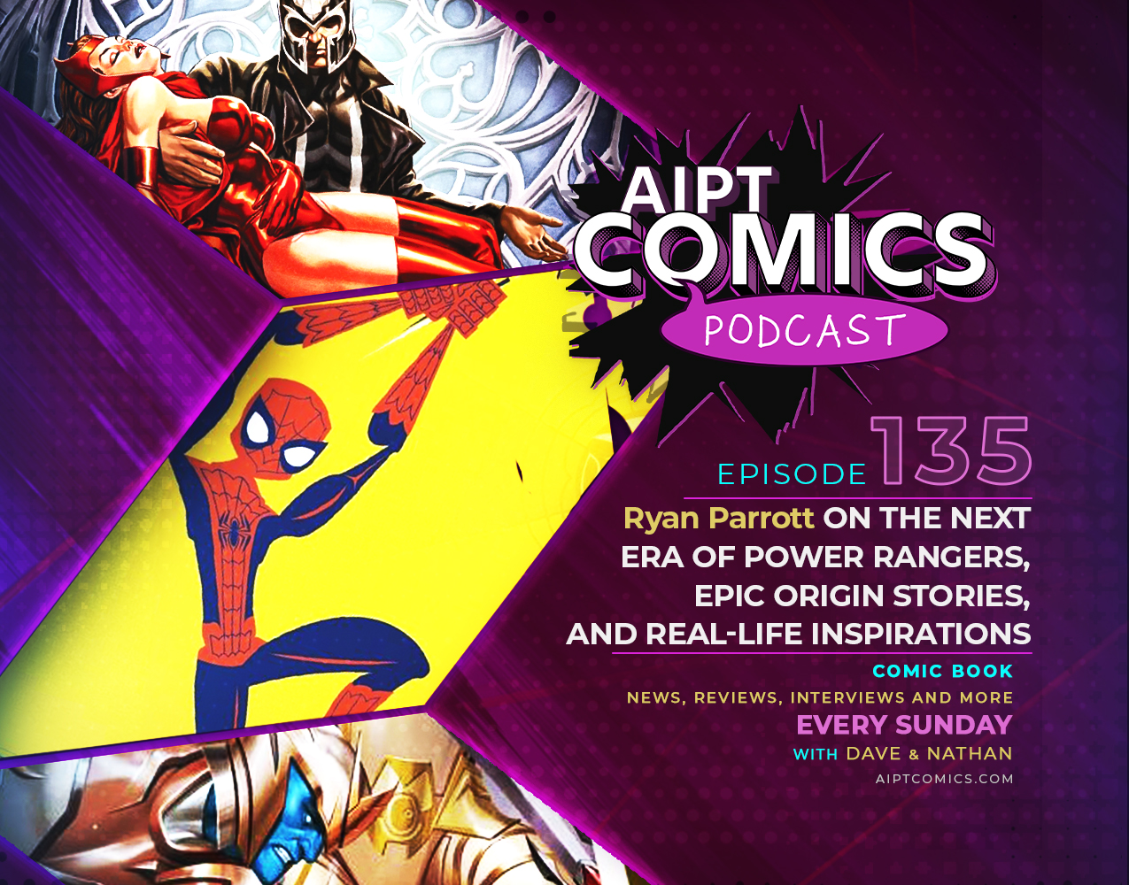 AIPT Comics podcast episode 135: Ryan Parrott on the next era of Power Rangers, epic origin stories, and real-life inspirations