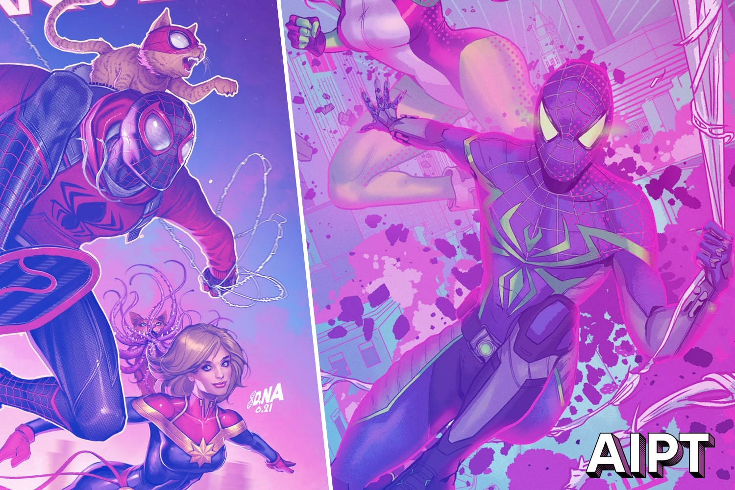 EXCLUSIVE Marvel First Look: 'Captain Marvel' and 'Avengers' Miles Morales 10th anniversary covers