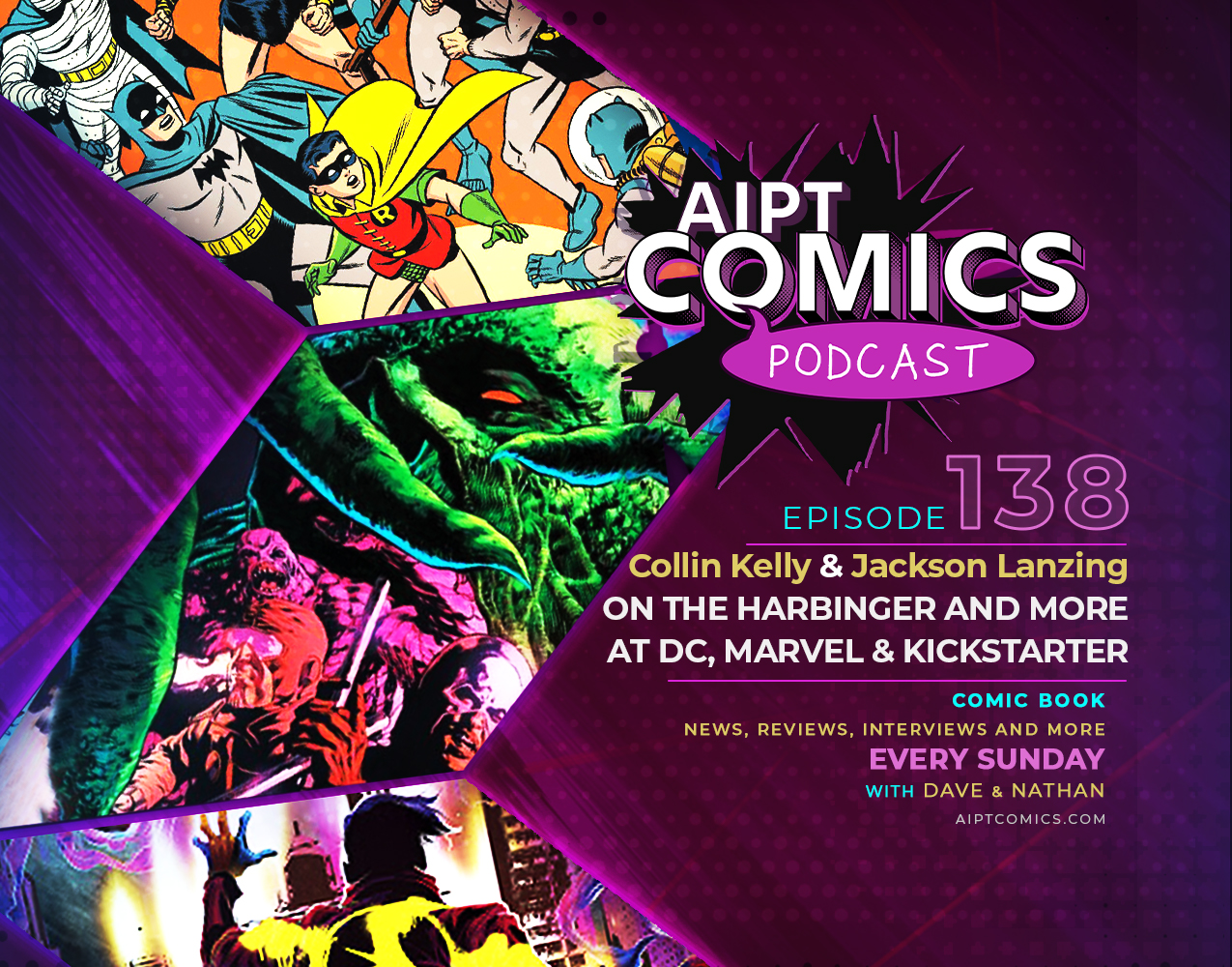 AIPT Comics podcast episode 138: Collin Kelly and Jackson Lanzing on 'The Harbinger' and titles at DC, Marvel & more
