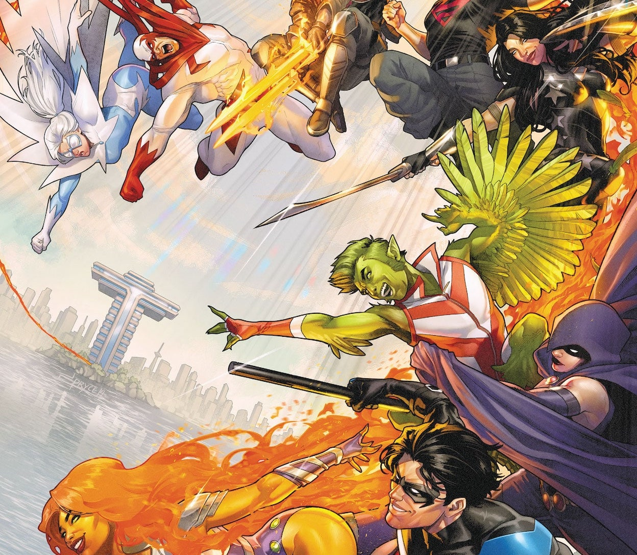 'Titans United' #1 opens with a strong superhero voice, but a weak mystery