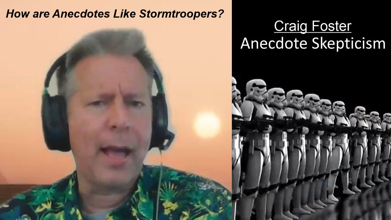 [WATCH] How are anecdotes like stormtroopers? -- Craig Foster