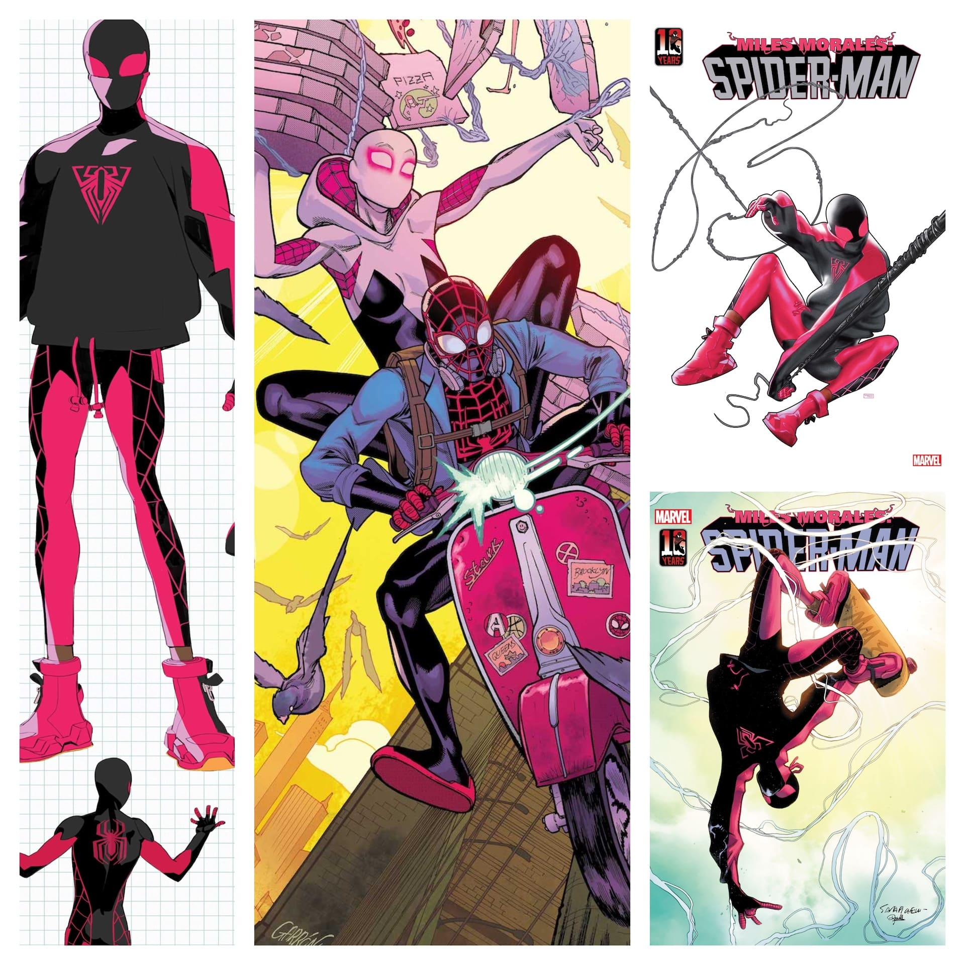 Newly revealed 'Miles Morales: Spider-Man' #30 covers show off the new costume
