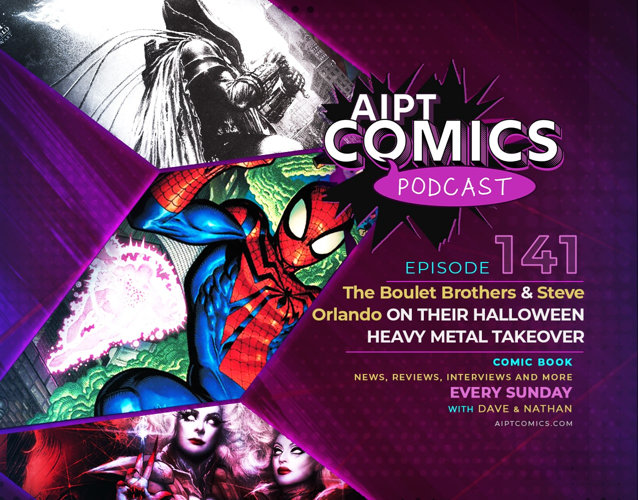 AIPT Comics Podcast episode 141: The Boulet Brothers & Steve Orlando on their Heavy Metal Halloween takeover