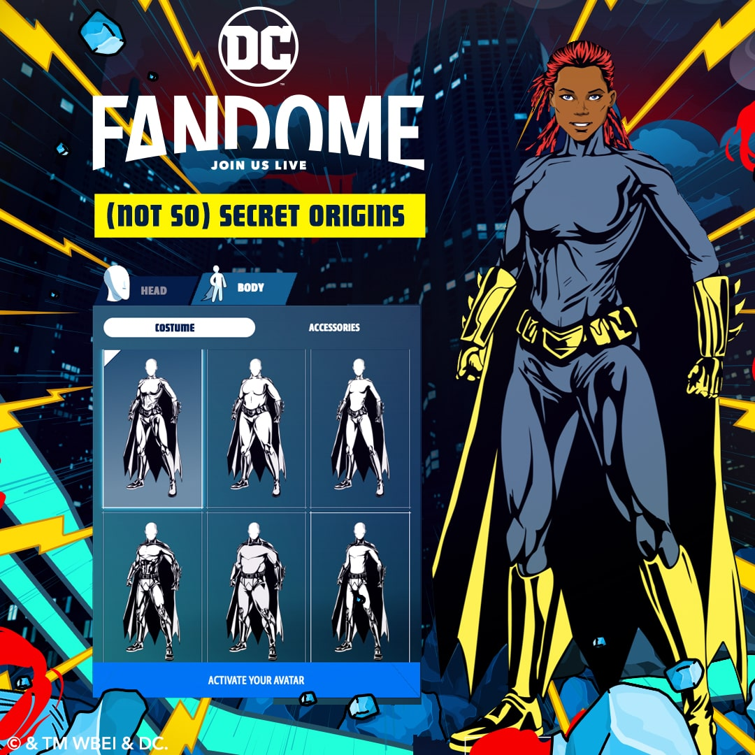 DC FanDome offers superhero character creation and design tool